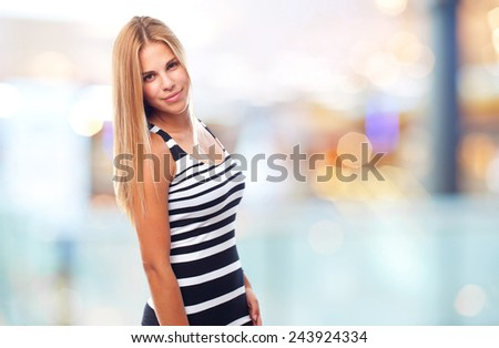 young cool woman - stock photo