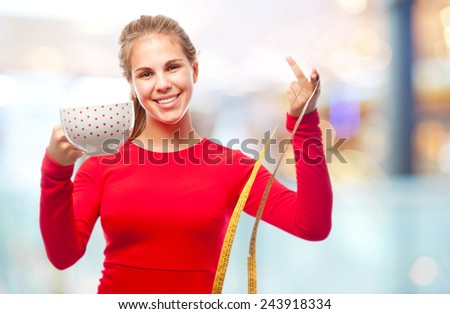 young cool woman diet concept - stock photo