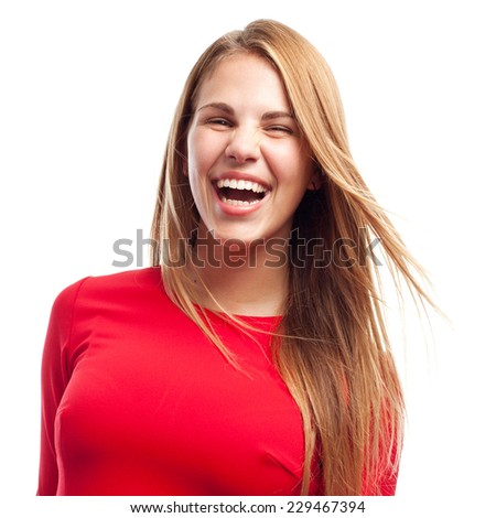 young cool woman laughing - stock photo