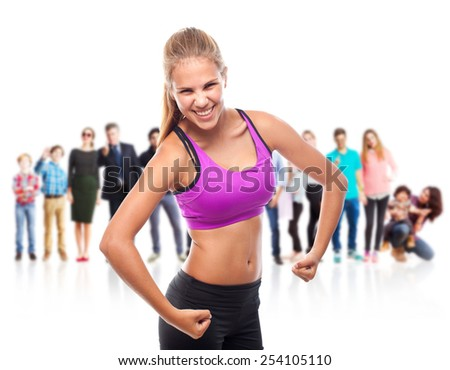 young cool woman strong concept - stock photo
