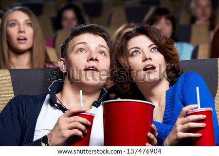 Young couple at the cinema