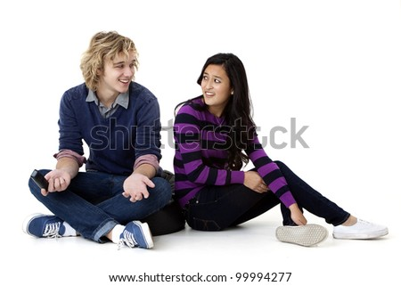 young couple disagreeing