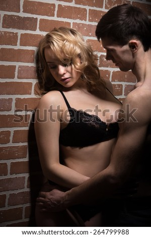 Teen Couple Share Passionate Foreplay in the Bedroom