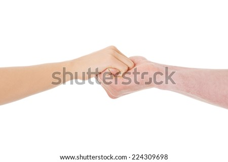 Young couple holding hands in love