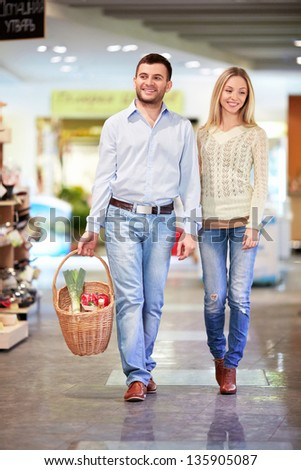 Young couple in a store