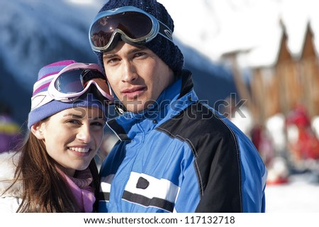 Young couple in winter time