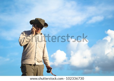 Young cowboy - stock photo