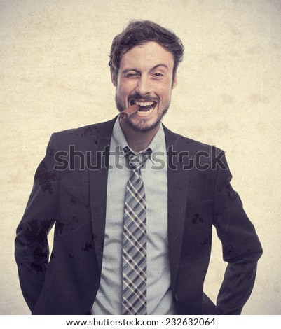 young crazy businessman with a pure - stock photo