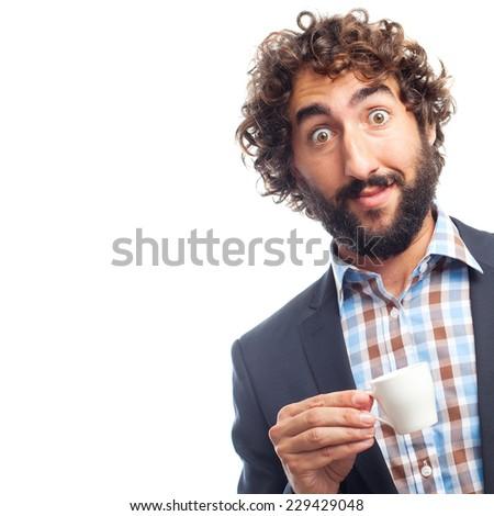 young crazy man - stock photo