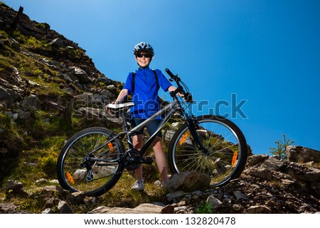 Young cyclist - stock photo