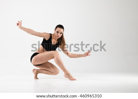 young dancer, girl dancing, dance moves choreographed the work on themselves,