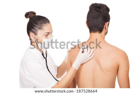 young doctor assisting patient