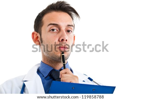 Young doctor portrait - stock photo