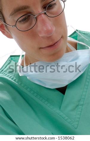 Young doctor. Studio shooting - stock photo