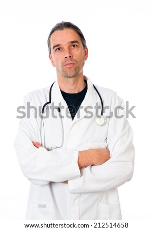 young doctor with crossed arms
