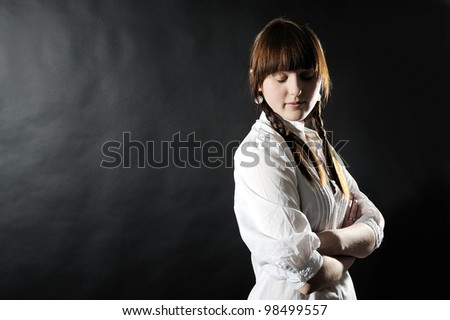 young elegant female model