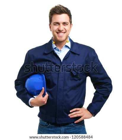 Young engineer portrait - stock photo