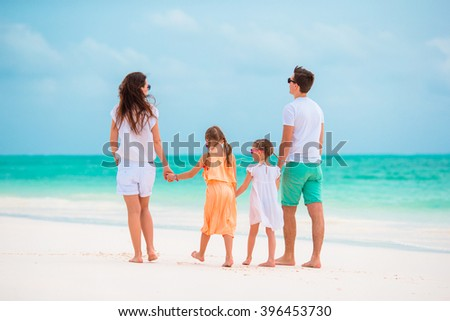 Young family on vacation