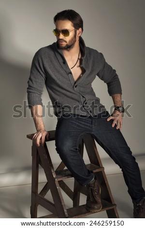 Young fashion man - stock photo