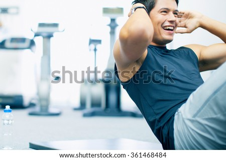 Young fashion sport man - stock photo