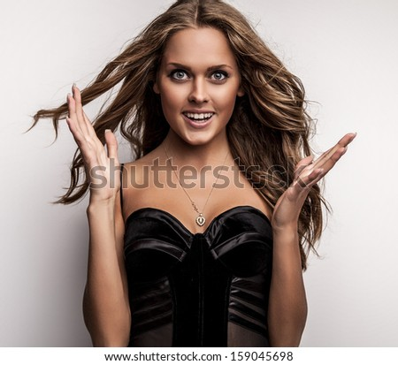 Young fashionable & artistic woman.  - stock photo