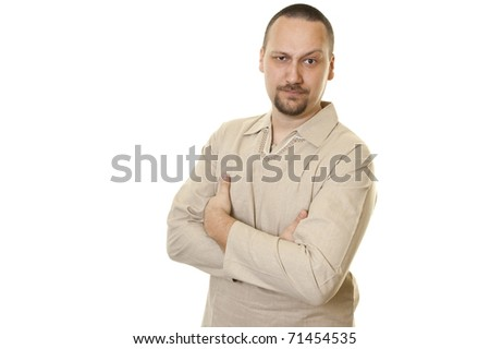 young fashionable handsome man looking cool - stock photo