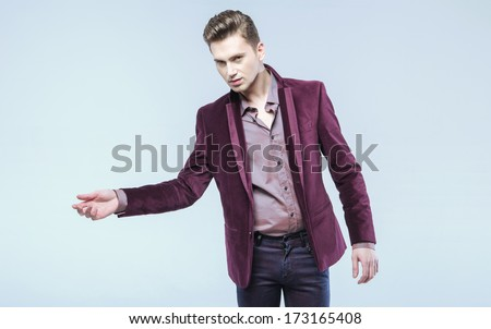 Young fashionable man
