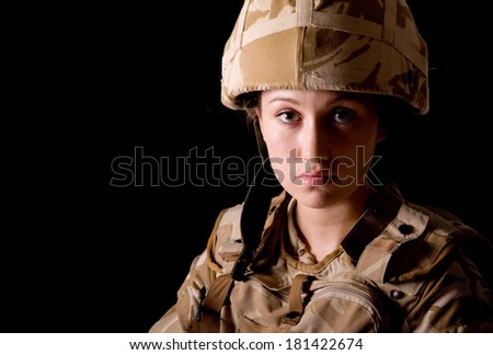 Young Female British Soldier