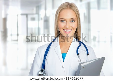 Young female doctor at a hospital