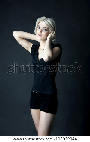 young female fashion model - stock photo