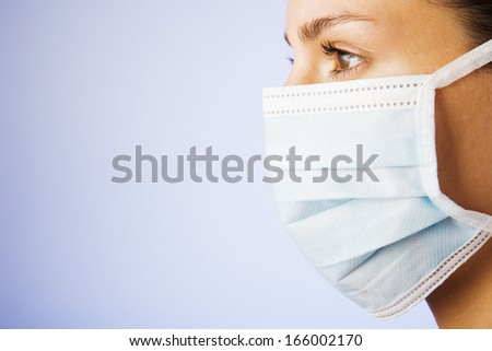 young female having a cold - stock photo