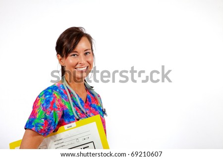 young female health care professional