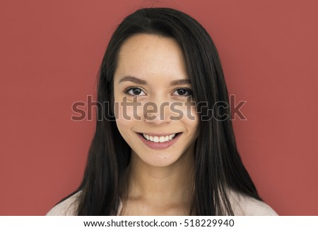 Young Female Smiling Posing Concept