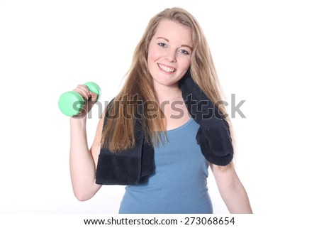Young fitness woman - stock photo