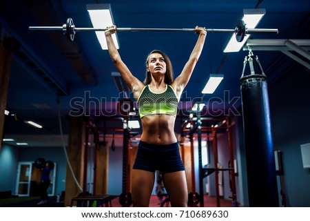 Young Fitness Woman Lifting Weight Crossfit Stock Photo Download