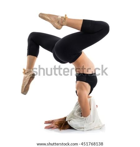 Young girl dancing - stock photo