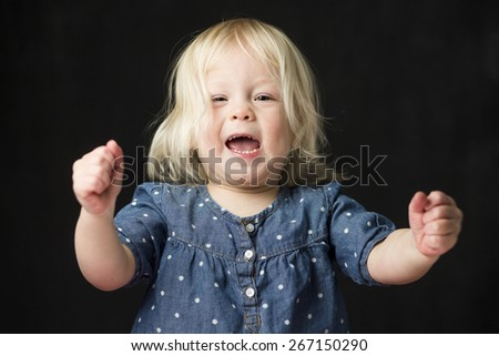 Young girl enthusiasm  - stock photo