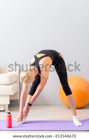 Young girl going for sports - stock photo