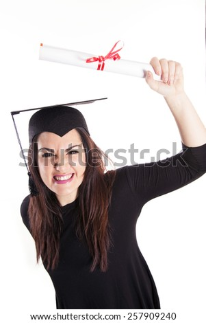 Young girl graduation - stock photo
