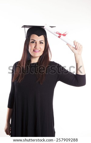 Young girl graduation - stock photo