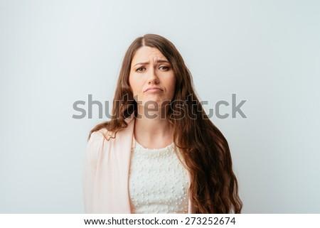 young girl hurt - stock photo