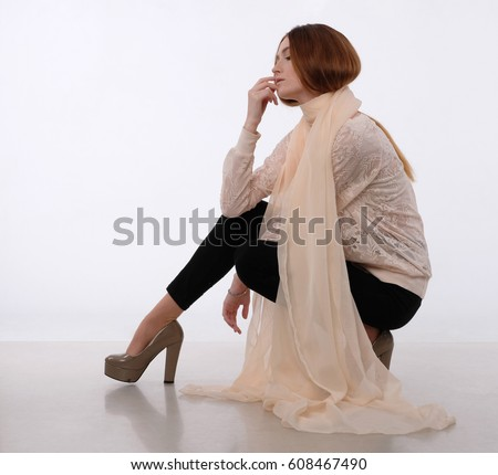 Woman Knees Bent Stock Images Royalty Free Images