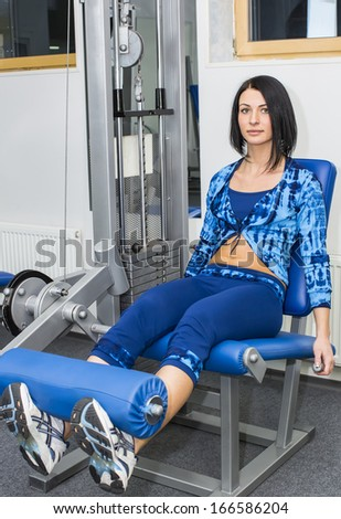 young girl in the gym for sports