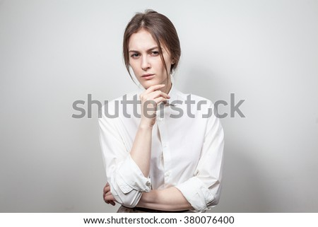 young girl in white shirt