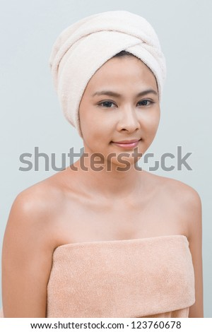Young girl portrait in Thai spa