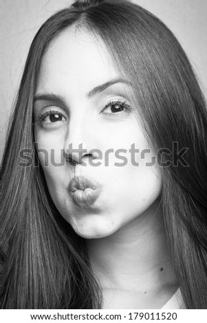 Young Girl Portrait with Expression