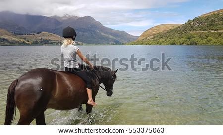 bareback by the lake