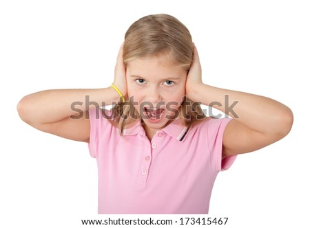 young girl screaming