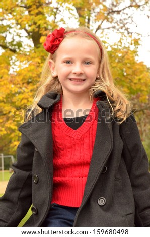 young girl smiling - stock photo