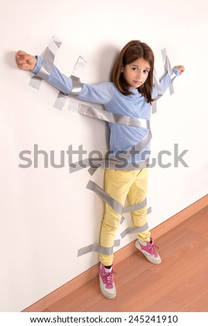 little girl tied up naked